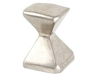 Forged 2 - Small Square Knob - Satin Nickel - New York Hardware Online
