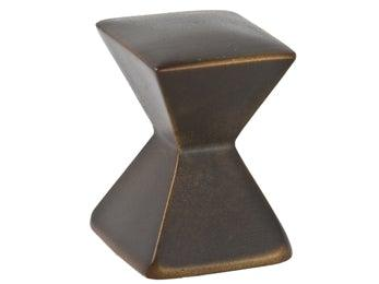 Forged 2 - Large Square Knob  - Oil Rubbed Bronze - New York Hardware Online