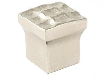 "Pomegranate 3/4"" Square Knob  - Satin Nickel"