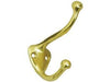 Solid Brass Coat & Hat Hook - PVD - Polished Brass