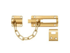 Security Door Guard Chain with Doorbolt - PVD - Polished Brass