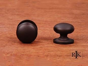 "Solid Plain Knob with Backplate  1 1/2"" (38mm) - Oil Rubbed Bronze"