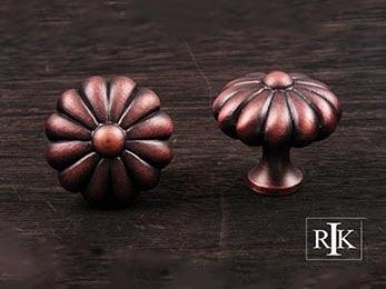 "Melon Knob 1 1/2"" (38mm) - Distressed Copper"