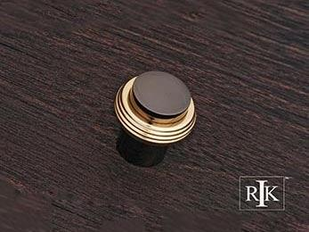 "Solid Swirl Rod Knob 1 1/4"" (32mm) - Black Nickel & Brass"