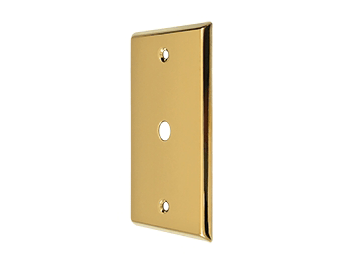Cable Cover Plate - PVD - Polished Brass