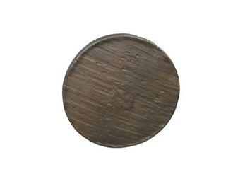 "Forged 3 - 4"" Round Knob  - Dark Antique Brass"