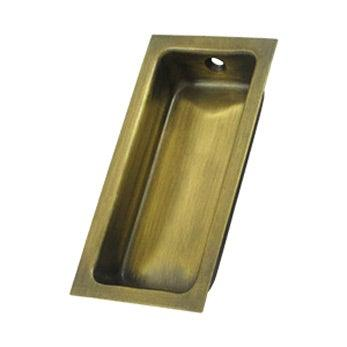 "Large Flush Pull 3 5/8"" - Antique Brass"