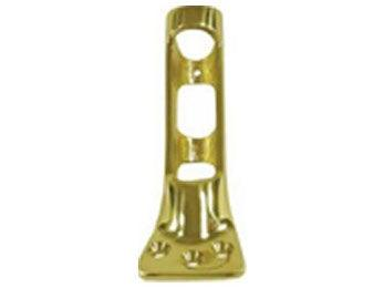 "Flag Pole Holder, 1"" Diameter Pole - PVD - Polished Brass"