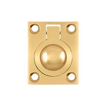 "Flush Ring Pull, 1 3/4"" - PVD - Polished Brass"