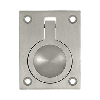 "Flush Ring Pull, 2 1/2"" - Satin Nickel"