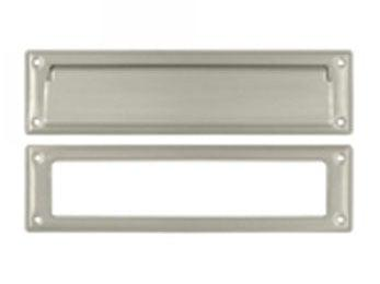 "Mail Slot 13 1/8"" with Interior Frame - Satin Nickel"