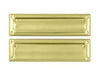 "Mail Slot 13 1/8"" with Interior Flap - Polished Brass"