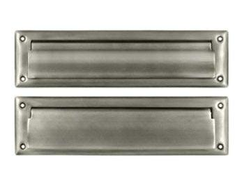 "Mail Slot 8 7/8"" with Interior Frame - Pewter"