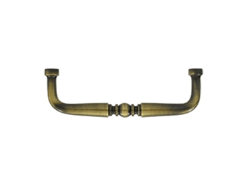 "Traditional Wire Pull 3 1/2"" - Antique Brass"