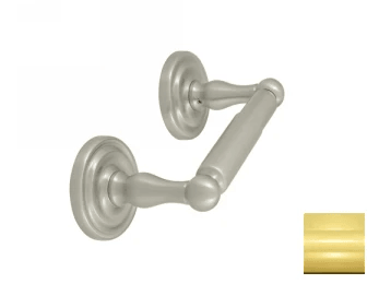 Toilet Paper Holder, Double Post, R-Series - PVD - Polished Brass