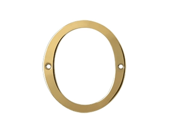 "Solid Brass 4"" Number #0 - PVD - Polished Brass"
