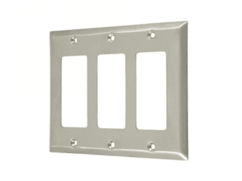 Triple Rocker Switch Plate - Satin Nickel