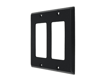 Double Rocker Switch Plate - Black