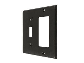 Single Switch and Single Rocker Combination Switch Plate - Oil Rubbed Bronze