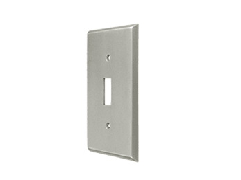 Single Toggle Standard Switch Plate - Satin Nickel