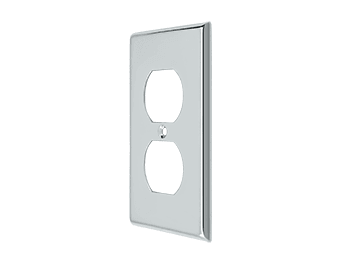 Duplex Outlet Switch Plate - Polished Chrome