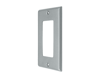 Single Rocker Switch Plate - Brushed Chrome