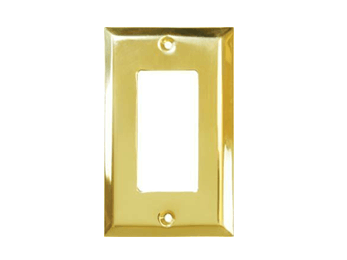 Single Rocker Switch Plate - Polished Brass