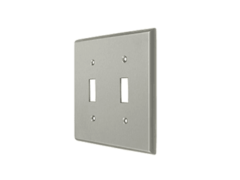 Double Toggle Standard Switch Plate - Satin Nickel