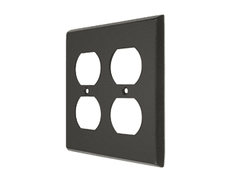 Double Duplex Outlet Switch Plate - Oil Rubbed Bronze