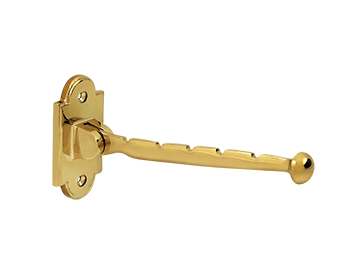 "Valet Hook, 7"" Projection - PVD - Polished Brass"