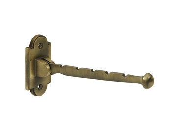 "Valet Hook, 7"" Projection - Antique Brass"