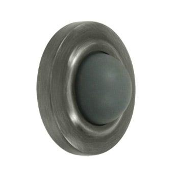 "Convex Flush Bumper 2 3/8"" Diameter - Pewter"