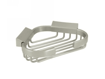 "Wire Basket, 6"" Corner Basket - Polished Chrome"