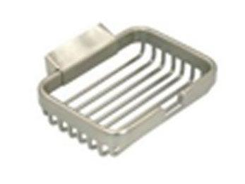 "Wire Basket, 4 1/2"" Rect. Soap Holder - Satin Nickel"