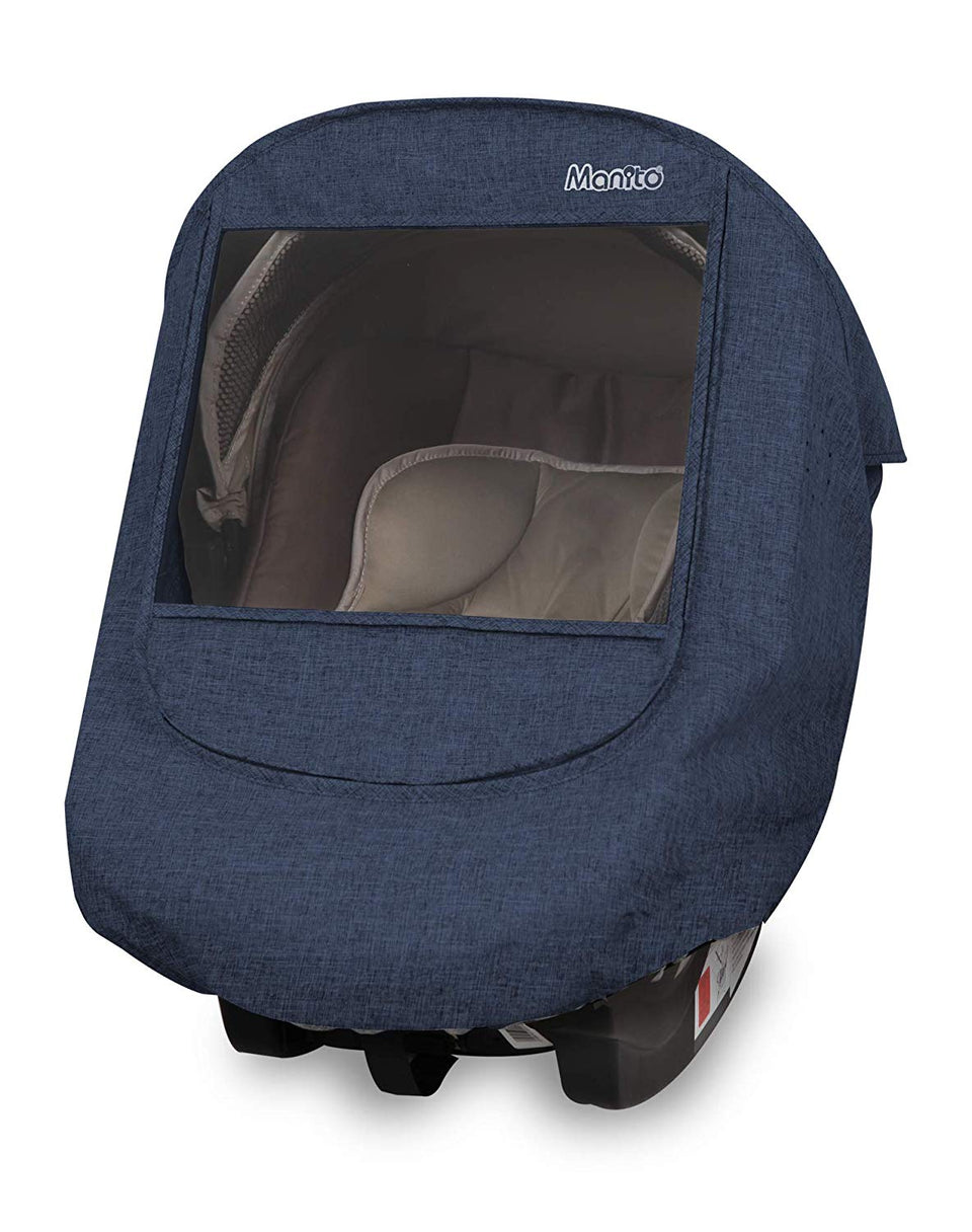 Melange Infant Car Seat Weather Shield (Navy)