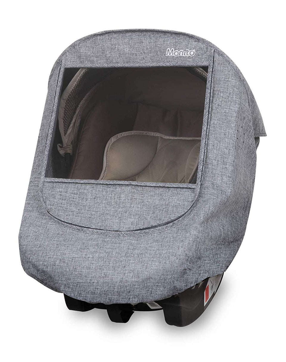 Melange Infant Car Seat Weather Shield (Black Grey)