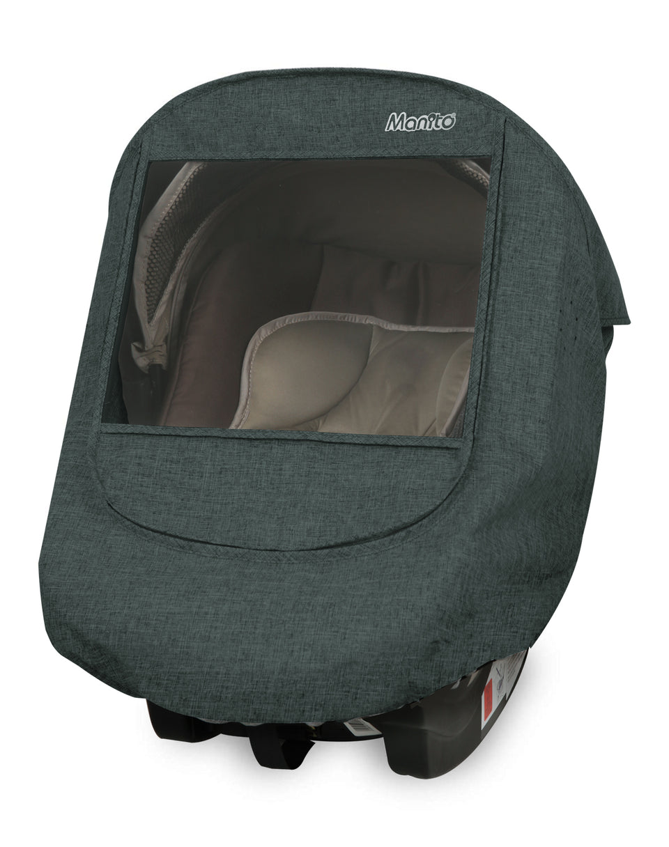 Melange Infant Car Seat Weather Shield (Khaki Grey)