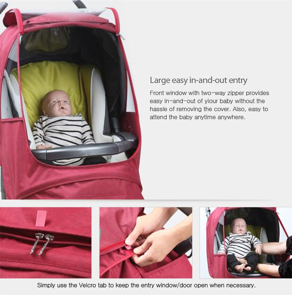 Melange Alpha Stroller Weather Shield (Chocolate)