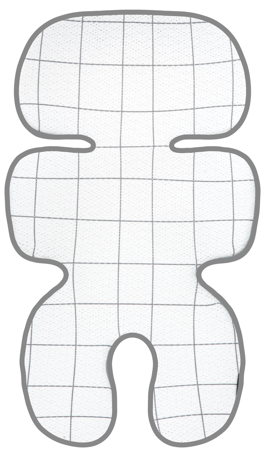 Clean Basic Cool Seat Pad (Modern Check Grey)