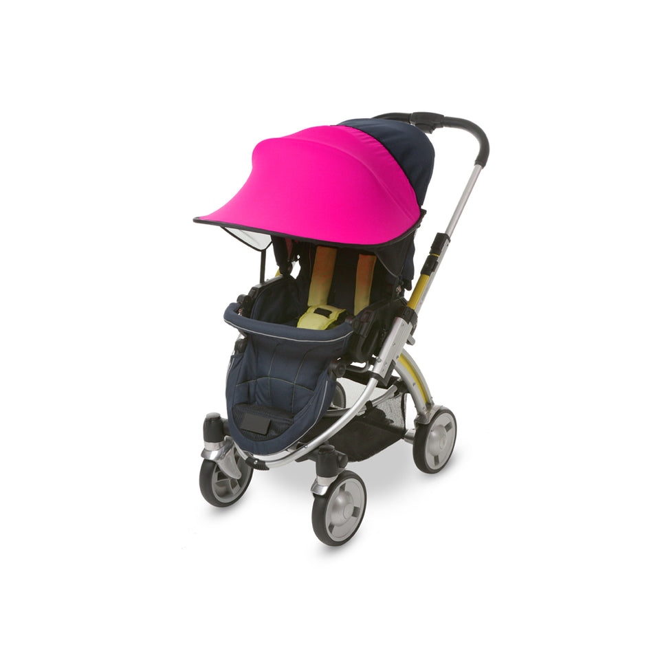 Sun Shade for Stroller & Car Seat (Magenta)