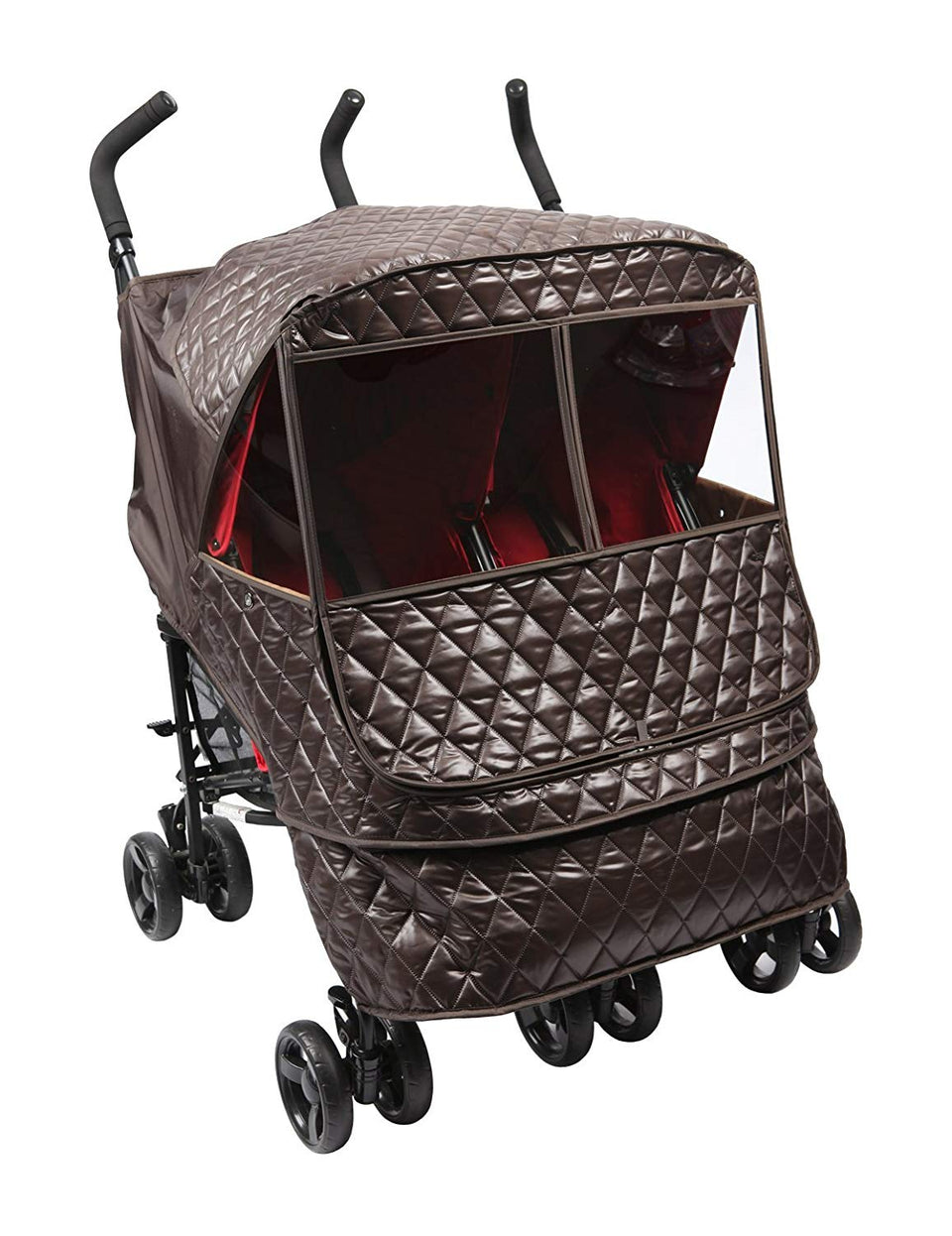 Castle Alpha Twin Stroller Weather Shield (Chocolate)