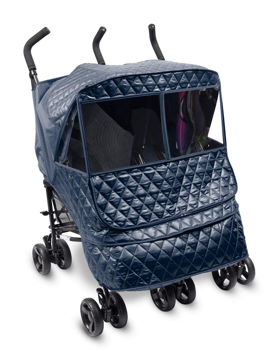 Castle Alpha Twin Stroller Weather Shield (Navy)