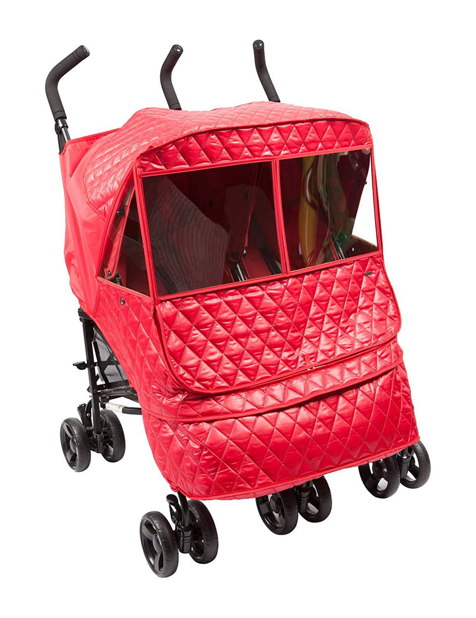 Castle Alpha Twin Stroller Weather Shield (Red)