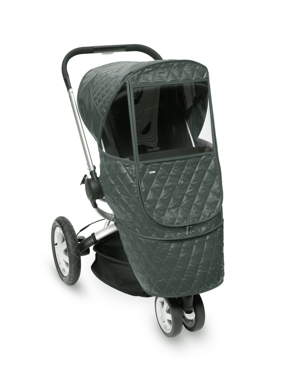 Castle Beta Stroller Weather Shield (Khaki Grey)