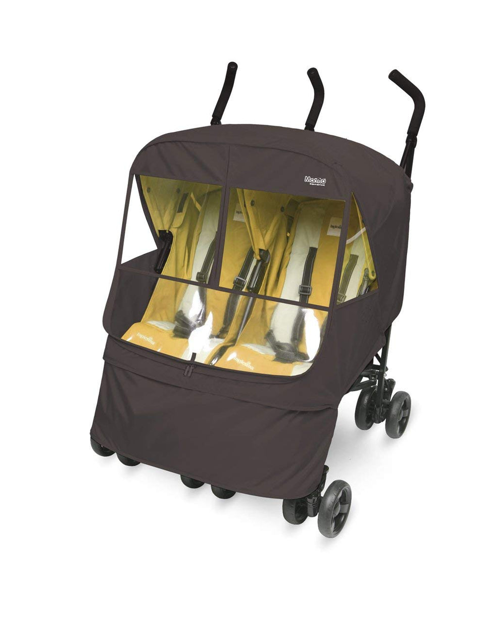Elegance Alpha Twin Stroller Weather Shield (Chocolate)