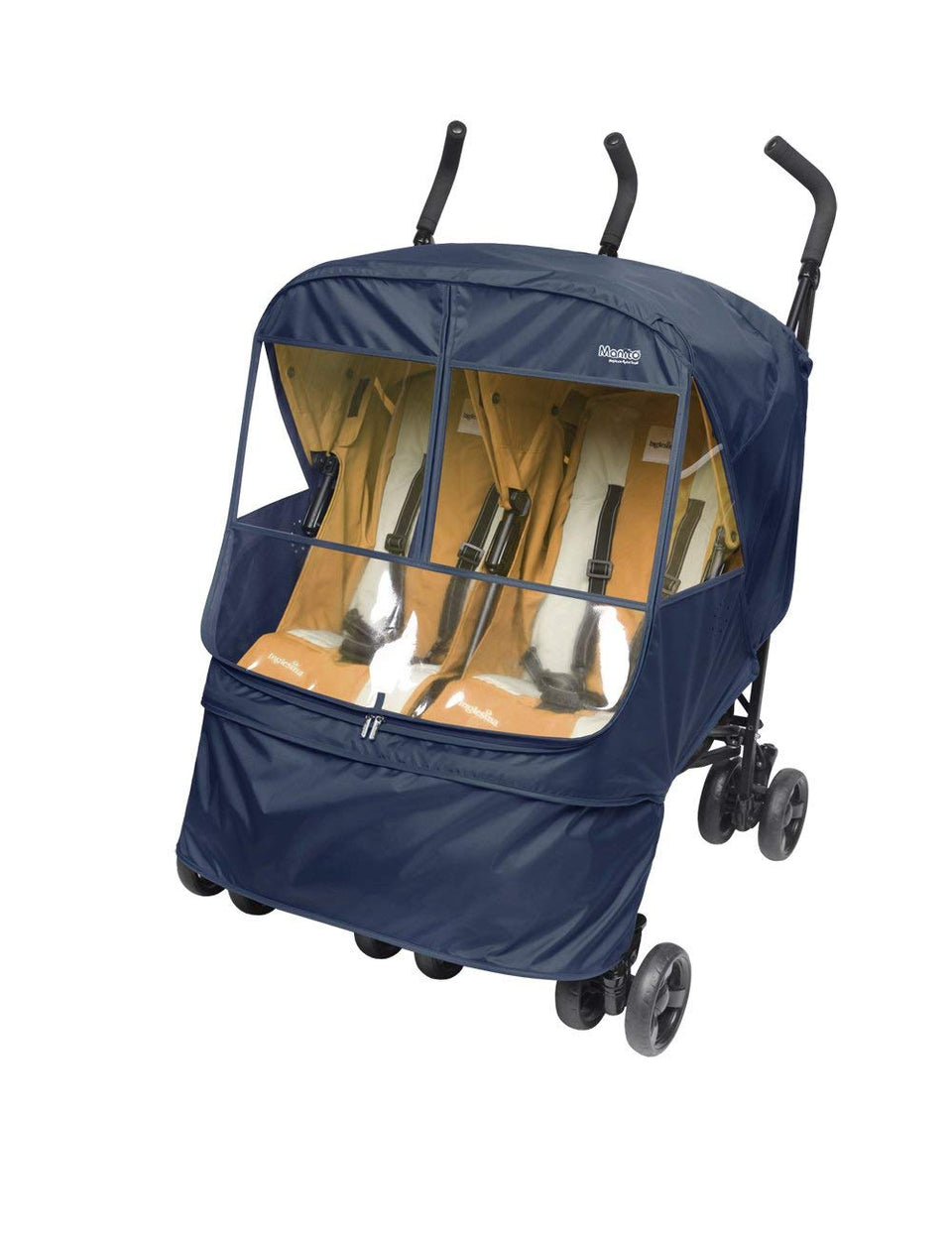 Elegance Alpha Twin Stroller Weather Shield (Navy)