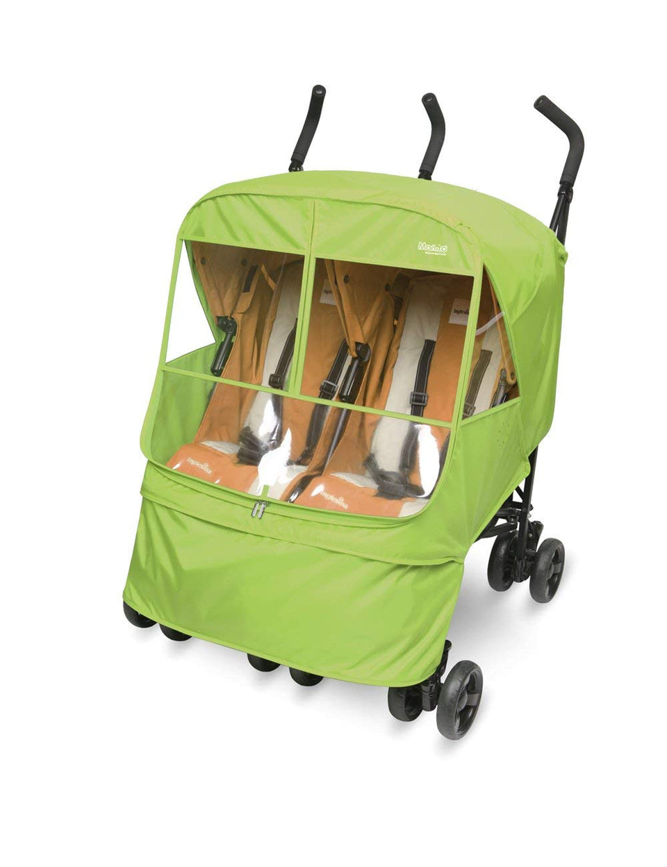 Elegance Alpha Twin Stroller Weather Shield (Green)
