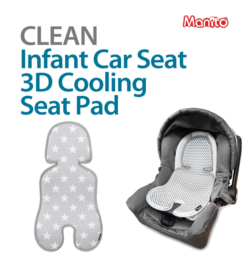Clean Infant Car Seat Cooling Seat Pad (Star Grey)