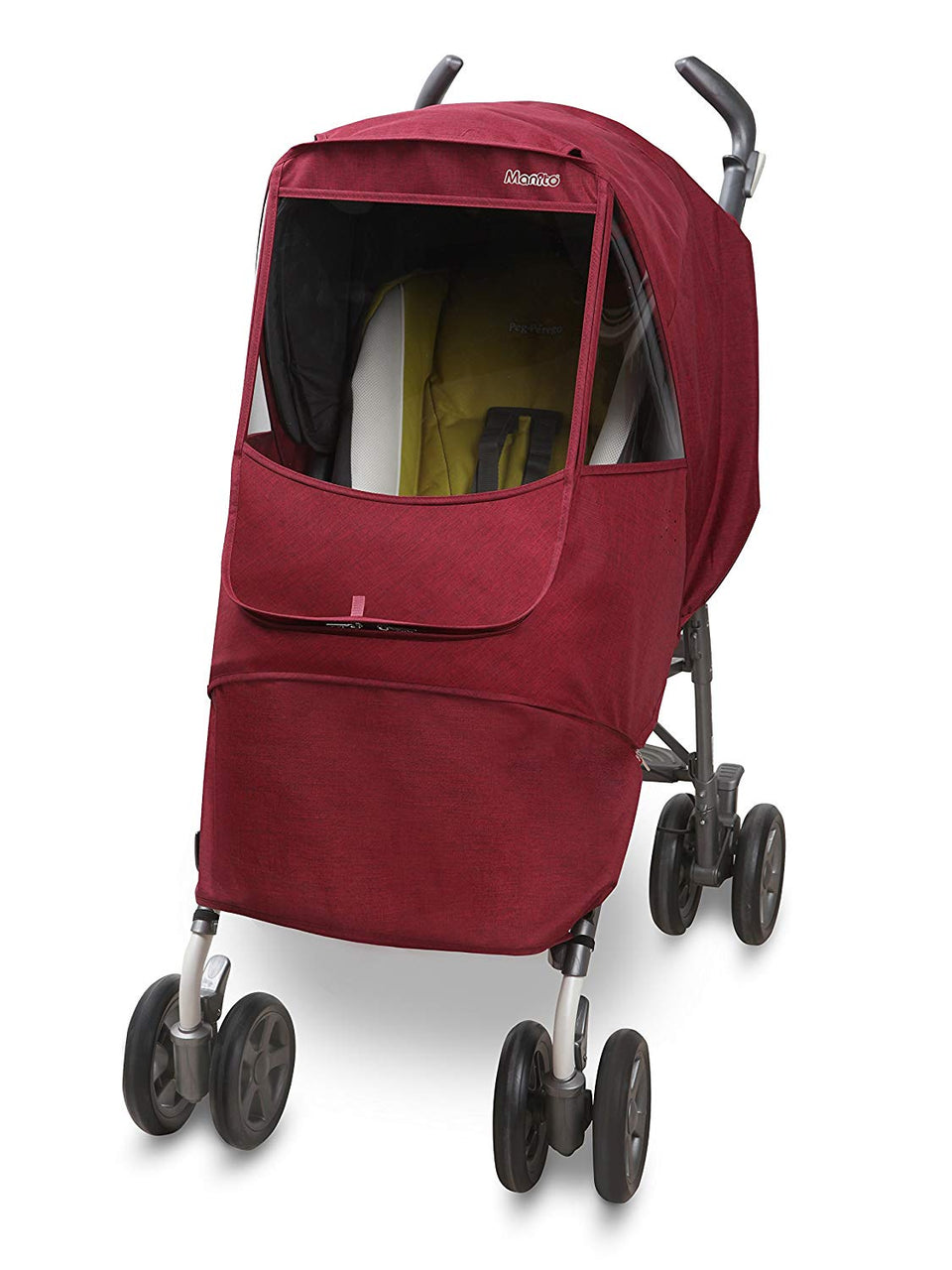 Melange Alpha Stroller Weather Shield (Red)