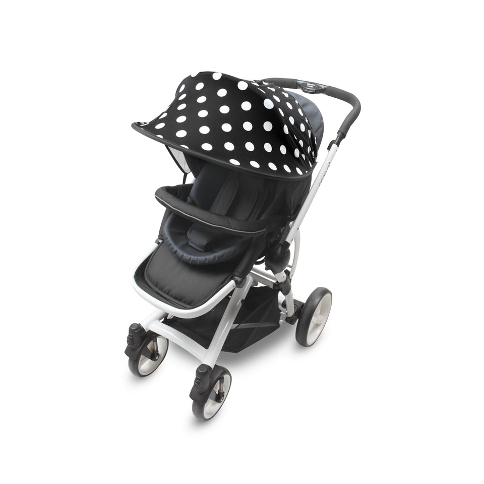 Sun Shade for Stroller & Car Seat - Scandi (Dot Black)